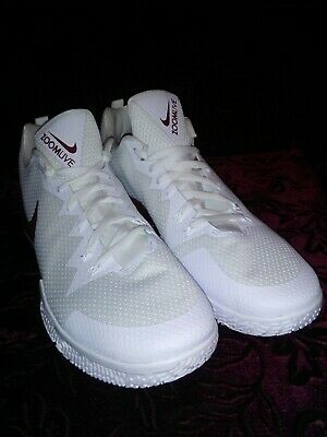 info for 9eb64 7e7b7 AJ7721-110 Nike Zoom Live Basketball Shoes White Maroon Men s Size 18 ...
