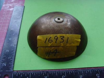 16931#4 Old  MEDIUM SIZED long case  clock bell, NOT IRON, yellowish colour