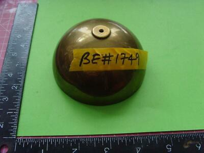 be#1749  Old  MEDIUM SIZED Bracket?  clock bell, NOT IRON, yellowish colour