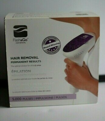 Silk'n Flash & Go Hair Removal System 5,000 Pulses New In Box