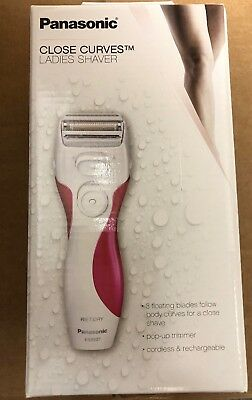 Panasonic Close Curves Wet / Dry 3-Blade Women's Electric Shaver | White / Pink