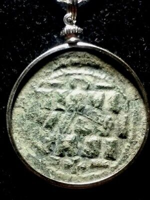 JESUS CHRIST Large 32mm Genuine Ancient Roman Byzantine Coin Pendant Grey Patina
