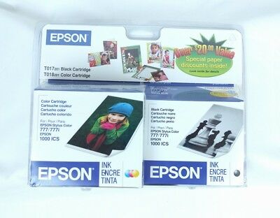 EPSON STYLUS T018 & T017 201 Color Ink Cartridge 1000 ICS, 777, 777i
