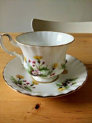Royal Albert 'Country Life' Series Meadow Field Montrose Tea Cup & Saucer