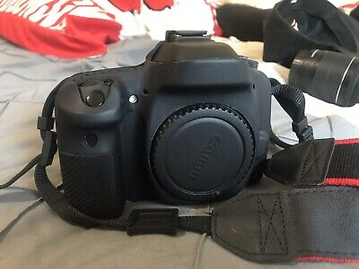 Canon EOS 80D 24.2MP Digital SLR Camera - Black with 18-55mm lens.