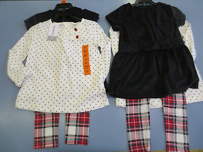 New Carter's Toddler Girl 3 Piece Set (Tunic, Long Sleeve Top, Legging) 2T or 3T