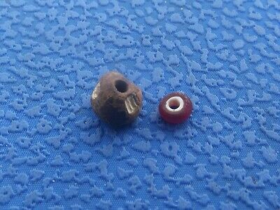 2 pcs. Viking bead. Rare Antique Bead #107