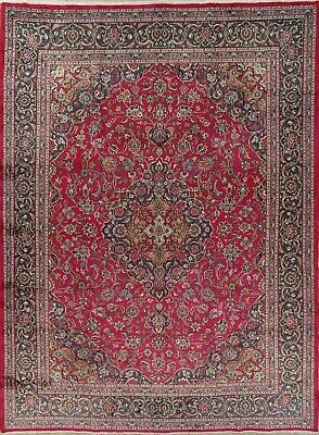 Traditional Floral Kashmar Persian Oriental Hand-Knotted Woolen 10x13 Area Rug