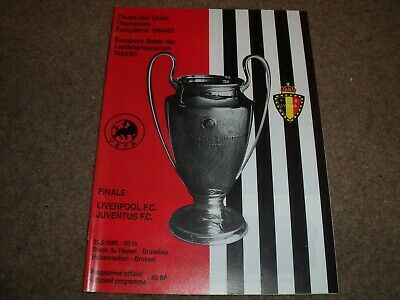 1985 European Cup Final Liverpool V Juventus 29Th May 1985 @ Brussels