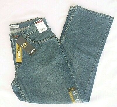 63a45518 Lee Modern Series Relaxed Fit Bootcut Jeans Mens 33x30 Comfort Stretch  Felix NWT