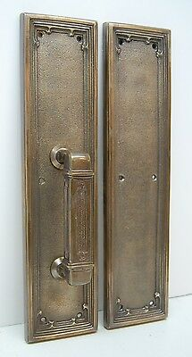 Set Of Solid Brass Church Door Push And Pull Plates Bronze Finish 366