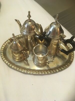 Brass TeaCup And Saucer Set India Very Old HandMade