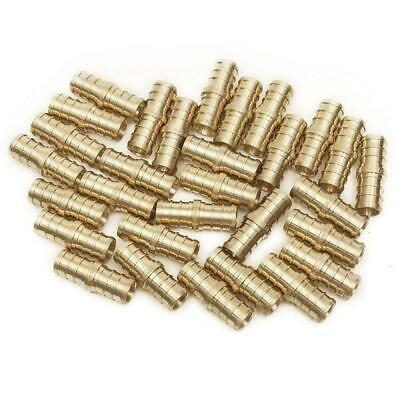 PEX 1/2 Barbed Straight Coupling Crimp Fitting 50 pcs / Brass / 0.5