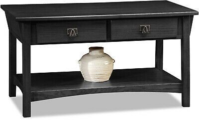 Leick Home Mission Two Drawer Coffee Table Multiple Colors Lounge Vintage Shelf