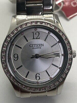 Citizen Eco-Drive Women's Corso Stainless Steel Watch EW2480-59A (MSRP $225.00)