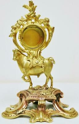 Fine Antique French Bronze Ormolu Bull Figurine Mantel Clock Case Clock Spares