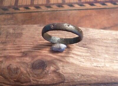 Viking Norse or Anglo Saxon Band Decorated Ring-Metal Detecting Find