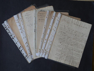 Lot de Documents Civils et Militaires 1820-1845 - RESTAURATION