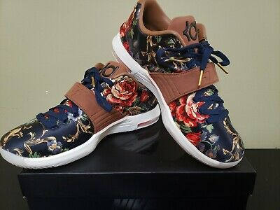 innovative design bd28d cee59 NIKE KD VII EXT Floral QS Midnight Navy/Hazelnut 726438 400 SZ 11 DS KD 7