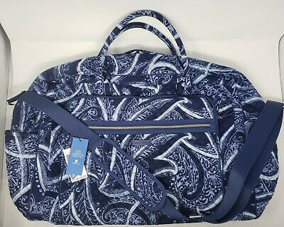 NWT Vera Bradley Iconic Grand Weekender Travel Bag Luggage Carry On INDIO $138