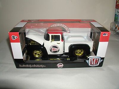 M2 Machines chase gold trim holley 1956 ford f-100,.release 66 1:24 scale new