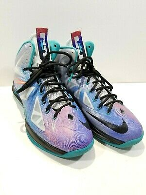 4377754d4bd5 Nike Air Max LEBRON X 10 PURE PLATINUM BLACK TURQUOISE 541100-008 size 11 No