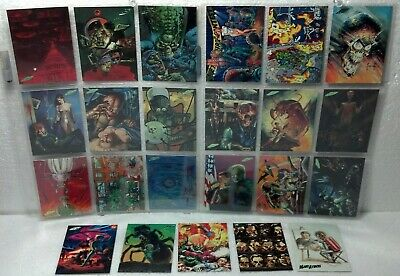 1994 Mars Attacks Tops complete NEW VISIONS series 23 card set NM/VG foil logo