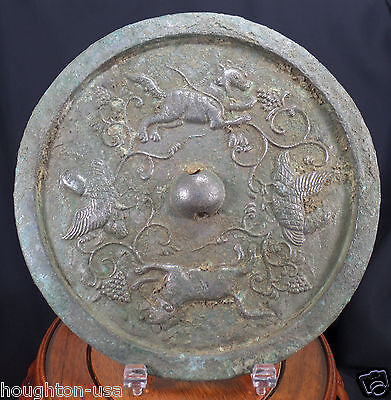 """Ancient Chinese Tang Dyn. 5"""" Bronze Mirror!  A 1,200 Year-Old Wedding Gift! RARE"""
