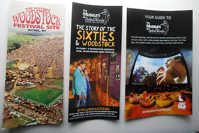 Woodstock 1969 Festival Museum Brochures Lot Of 3