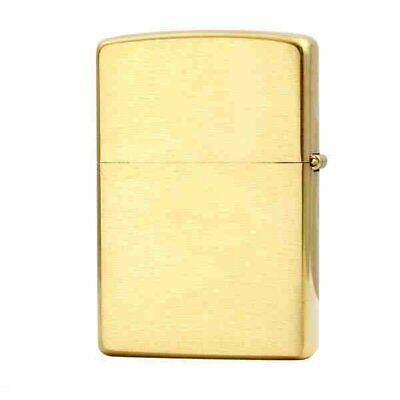 Zippo Solid Brass Engraved, Brushed Brass Finish, Genuine Windproof Lighter #204