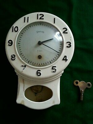 Vintage Smiths Bakelite White Office/HOME Wall Clock,