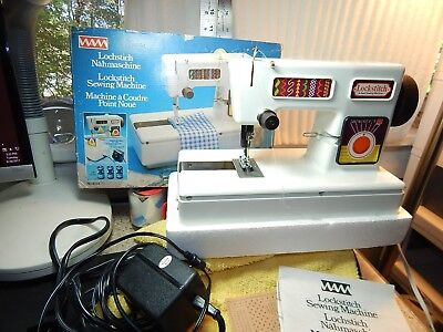 Vintage Lockstitch Childerns Starter Sewing Machine Original box Tested Working