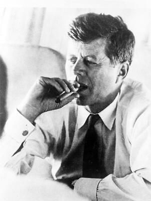 JOHN F KENNEDY SMOKING CIGAR GLOSSY POSTER PICTURE PHOTO PRINT jfk cool old 5327