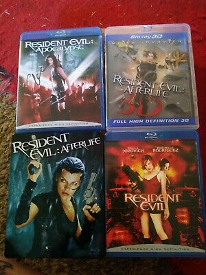 Resident Evil lot of blu rays and steelbook 2 of them are signed.check this out