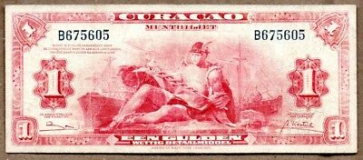 Curacao VF Note 1 Gulden 1947 P-35