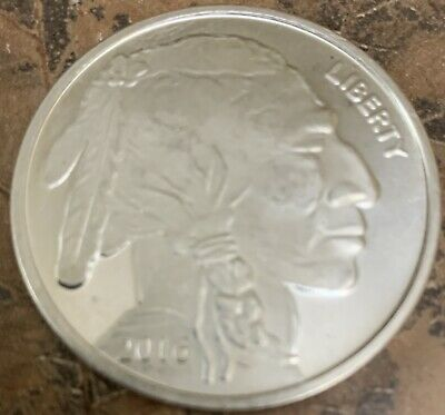 Liberty Indian Head Buffalo 2016 Silver 1 troy oz .999 Fine Silver Round