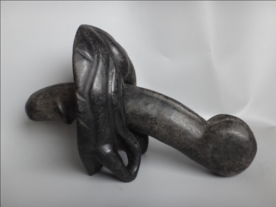 Rare Hongshan culture Meteorite iron Carved Male genitals and female Combination