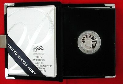 Original Owner 2005-W 1/4 oz. $25 PROOF Platinum American Eagle US Mint COA Box