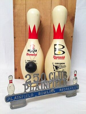 bf15350e BOWLING PINS AND Ball Photo Picture Holder Red White Black 5