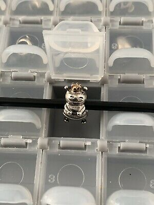 Pandora Sterling Silver 925 ALE Queen Bee Charm #790227 with14K Accents Retired!
