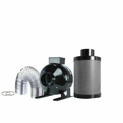 """TopoGrow Hydroponic 6""""Inline Fan Carbon Air Filter Ducting Kit for Plant Growing"""