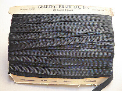 Vintage 1930's Black Braid. 18mms. x 3 Metres