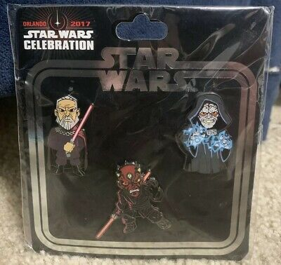2017 Star Wars Celebration Orlando Exclusive Sith Trading Pin Set - Darth Maul