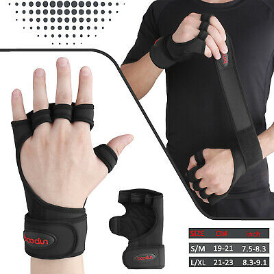 For Men Women Gym Gloves Grips Wrist Wrap Support Weight Lifting Pullup Crossfit