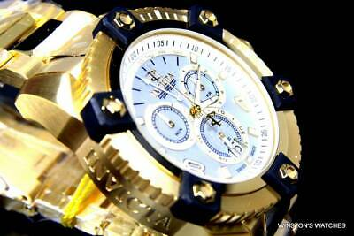 Invicta Reserve Grand Arsenal Watch 63mm Swiss Made Chrono Gold Plated MOP New