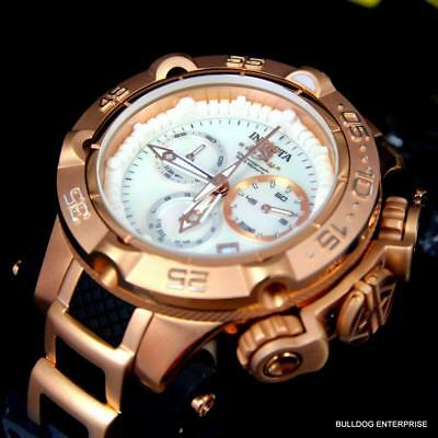 Lady's Invicta Subaqua Noma V White MOP Rose Gold Tone Swiss Made Watch New