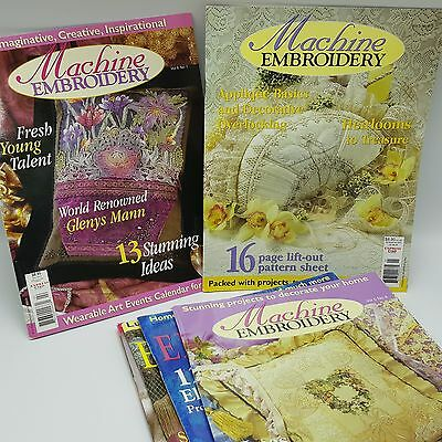 Machine Embroidery Magazine Lot 6 2000 2001 Volumes 5 6 Australia Patterns
