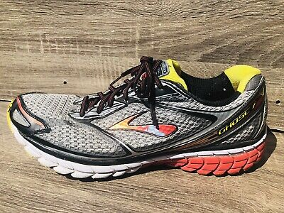 4d2ae290476  199 Men s BROOKS GHOST 7 Running Shoes Athletic Silver Red Yellow SIZE ...