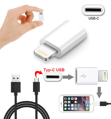 USB-C Type C Female to Lightning Male Charger Adapter for iPhone X 8 7 6 5S SE
