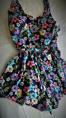 56bae94967 BLACK AND WHITE Floral Swimdress 20W Plus Size Swimsuit Sweetheart ...